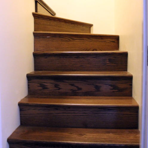 The stairs to the second floor (after)