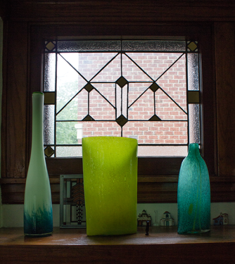 Original art glass windows
