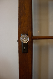 Doorknob detail in the dining room
