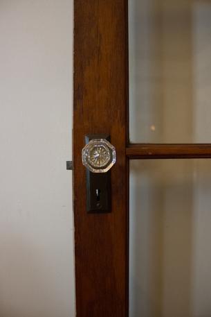 Doorknob detail in the dining room