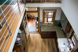 The view into the kitchen